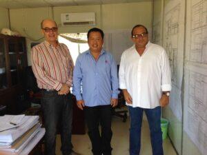 Engº António Mendonça, Prospectiva GE, Engº , Jiang Yun e Eng. Luis Brito, Administrador da Prospectiva, SA