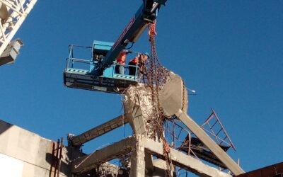 Prospectiva coordena segurança de empreitada de demolição