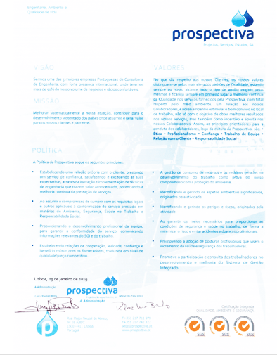 Prospectiva migra certificação para novo referencial ISO