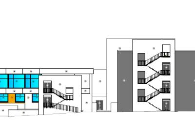 Revisão de projeto, coordenação de segurança em obra e fiscalização da empreitada de adaptação do Edifício da Cantina II a Residência de Estudantes da Universidade de Lisboa