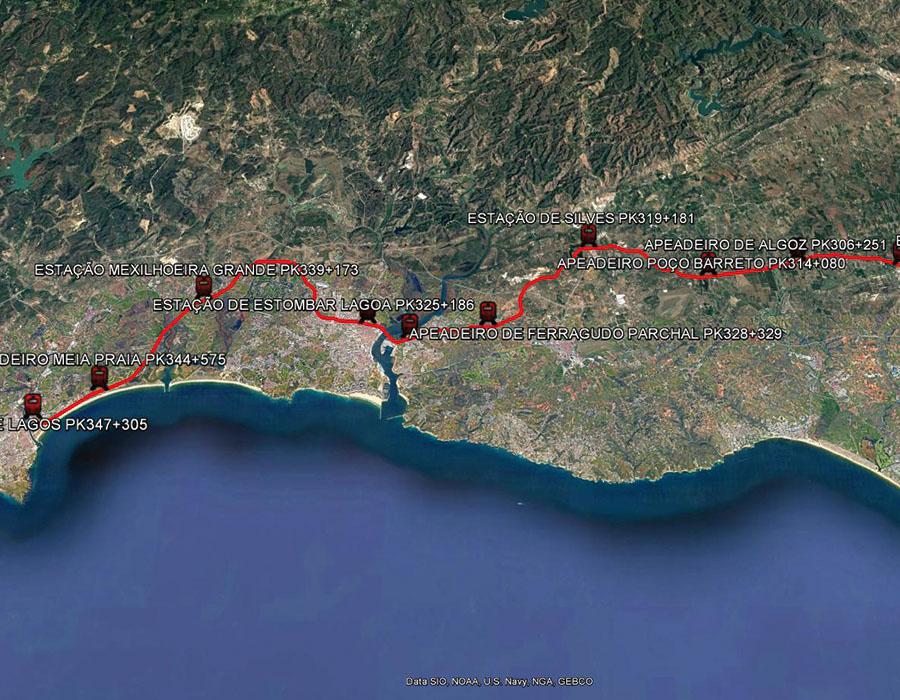 Electrificação da Linha do Algarve no Troço Tunes – Lagos