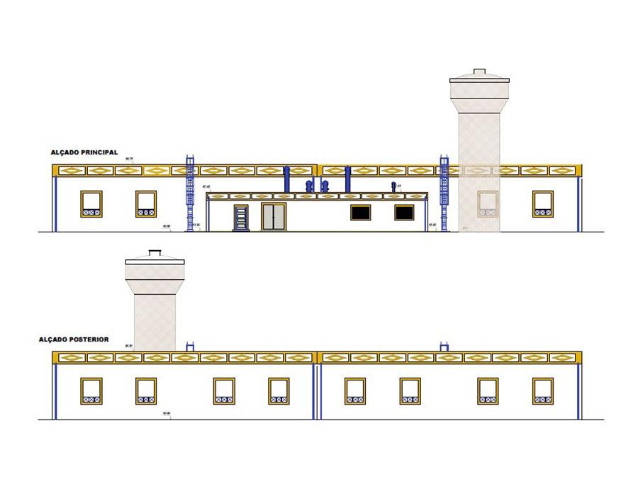 Adaptação do projeto Execução da remodelação do reservatório das Sesmarias