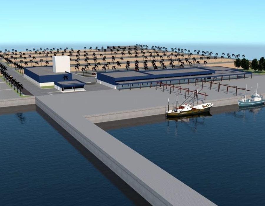Construção do porto de Pesca Industrial